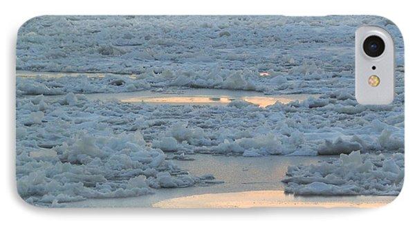 Russian Waterway Frozen Over IPhone Case by Margaret Brooks