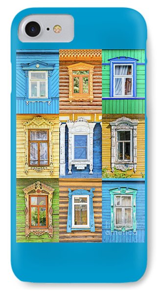 IPhone Case featuring the photograph Russian Windows by Delphimages Photo Creations