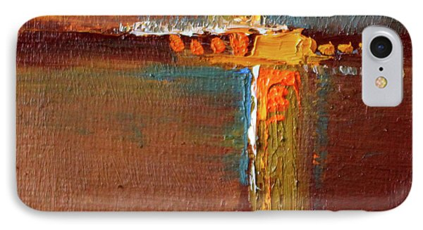 IPhone 7 Case featuring the painting Rust Abstract Painting by Nancy Merkle