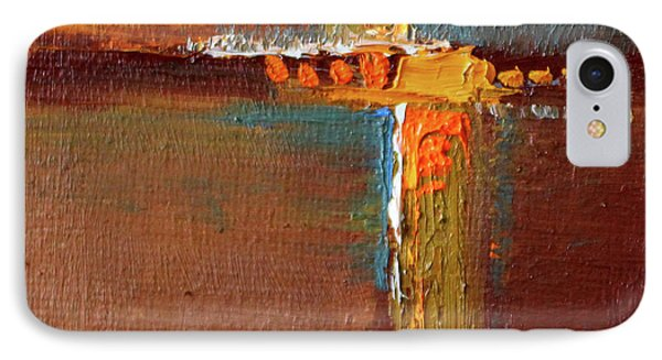 IPhone Case featuring the painting Rust Abstract Painting by Nancy Merkle