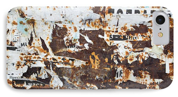 Rust And Torn Paper Posters IPhone Case by John Williams
