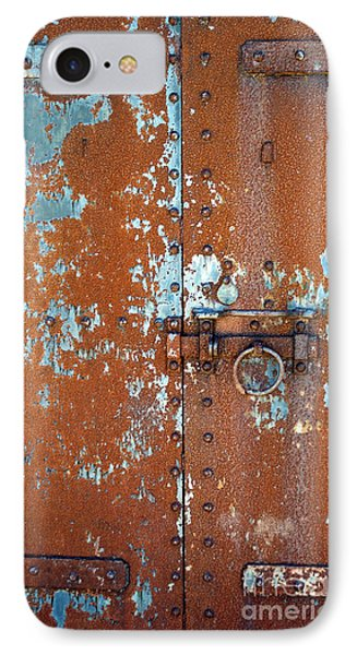 Rust N Blue IPhone Case by Skip Willits