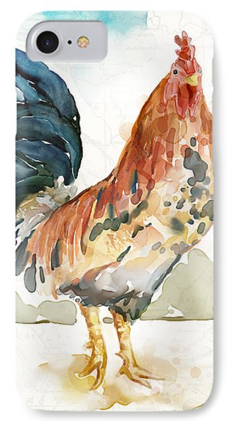 Rust Rooster IPhone Case by Mauro DeVereaux