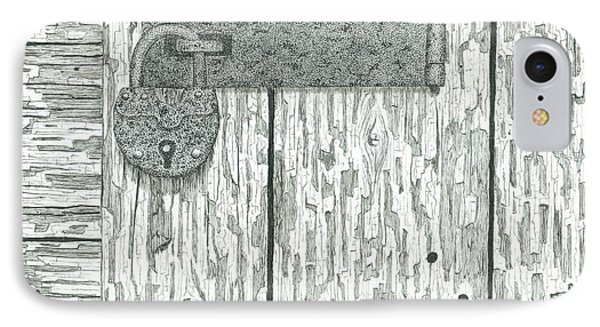 Rusted Lock And Latch IPhone Case by Ed Einboden