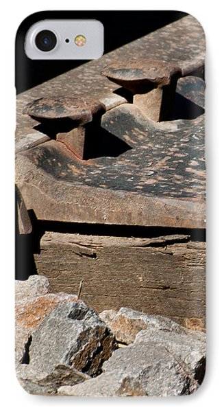 IPhone Case featuring the photograph Rusted Rail by Colleen Coccia