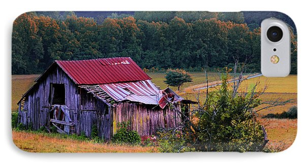Rustic Barn - Wears Valley Tennessee IPhone Case by Thomas Schoeller