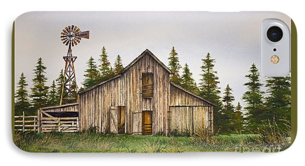 IPhone Case featuring the painting Rustic Barn by James Williamson