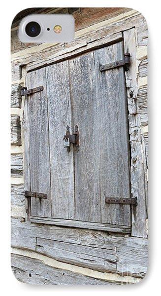 Rustic Cabin Window IPhone Case by Carol Groenen
