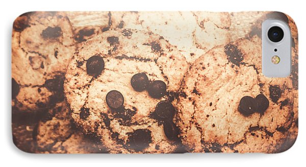 Rustic Chocolate Chip Cookie Snack IPhone Case by Jorgo Photography - Wall Art Gallery