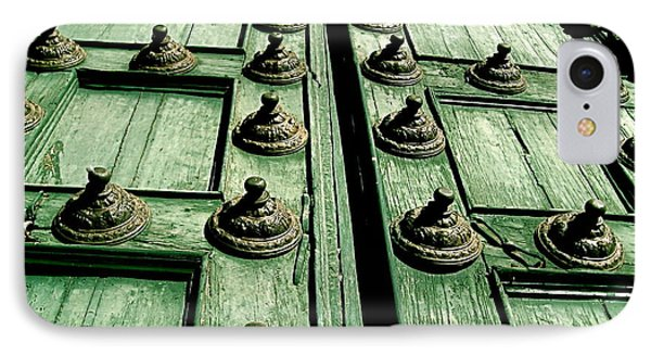 Rustic Church Door IPhone Case by Valerie Rosen