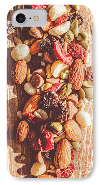 Rustic Dried Fruit And Nut Mix IPhone Case by Jorgo Photography - Wall Art Gallery