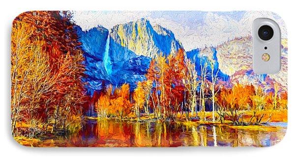 Rustic Fall At Yosemite  IPhone Case by Garland Johnson