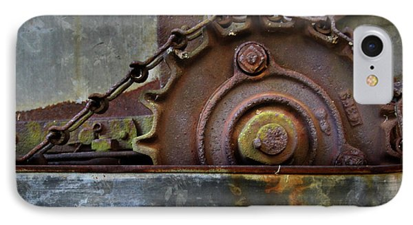 IPhone Case featuring the photograph Rustic Gear And Chain by David and Carol Kelly