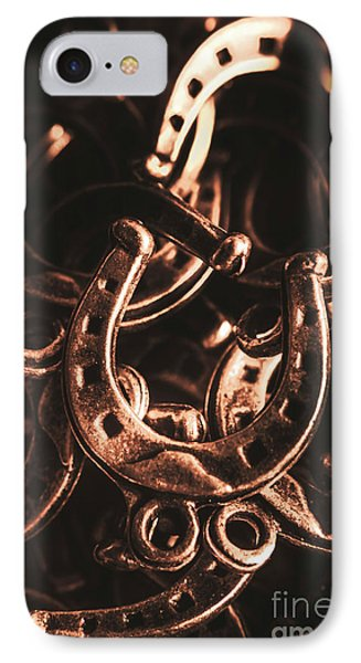 Rustic Horse Shoes IPhone Case