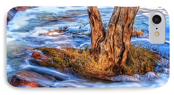 Rustic Island, Noble Falls IPhone Case by Dave Catley