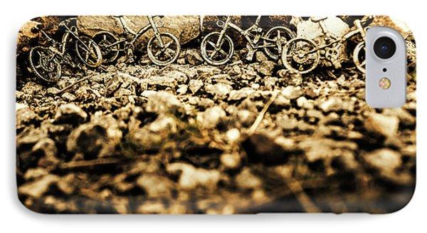 Rustic Mountain Bikes IPhone Case
