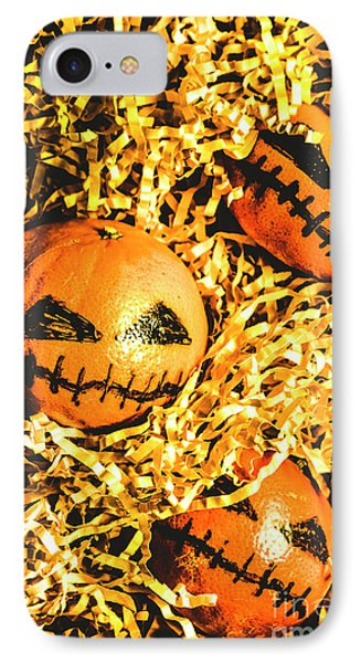 Rustic Rural Halloween Pumpkins IPhone Case