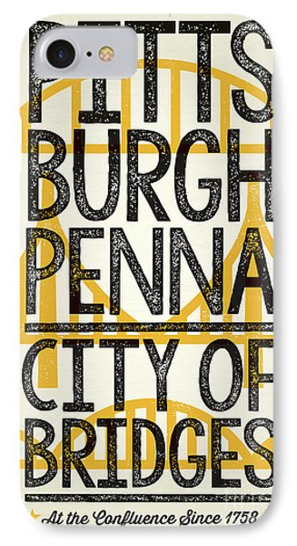 Rustic Style Pittsburgh Poster IPhone Case