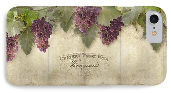 Rustic Vineyard - Pinot Noir Grapes IPhone Case by Audrey Jeanne Roberts