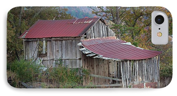 IPhone Case featuring the photograph Rustic Weathered Hillside Barn by John Stephens