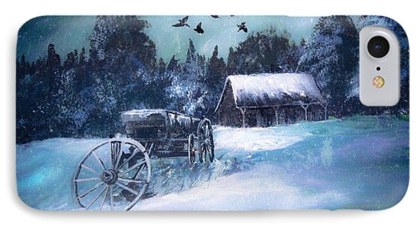 Rustic Winter Barn  IPhone Case