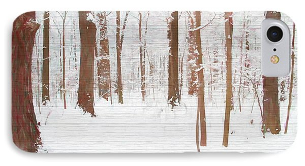 Rustic Winter Forest IPhone Case by Dan Sproul