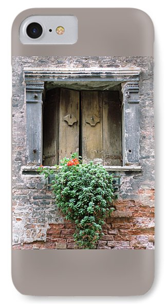 Rustic Wooden Window Shutters IPhone Case by Donna Corless