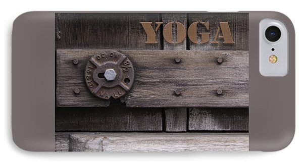 Rustic Yoga IPhone Case by Kandy Hurley