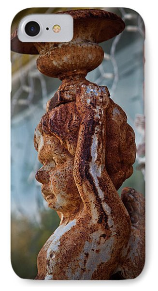IPhone Case featuring the photograph Rusty Angel by Linda Unger