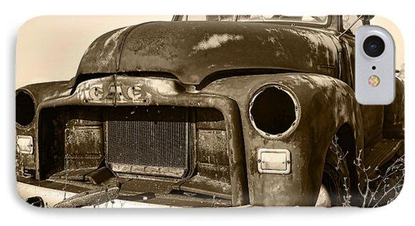 Rusty But Trusty Old Gmc Pickup Phone Case by Gordon Dean II