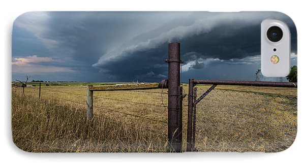 IPhone Case featuring the photograph Rusty Cage Horizontal  by Aaron J Groen