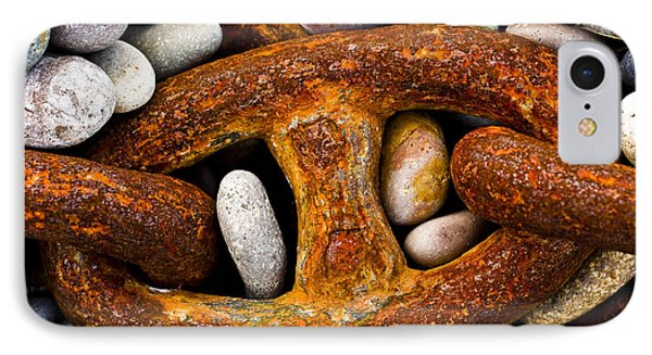 IPhone Case featuring the photograph Rusty Chain by Gabor Pozsgai