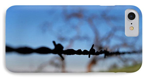 IPhone Case featuring the photograph Rusty Gate Rural Tree by Matt Harang