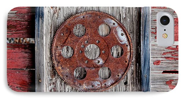 Rusty Gear IPhone Case by Art Block Collections