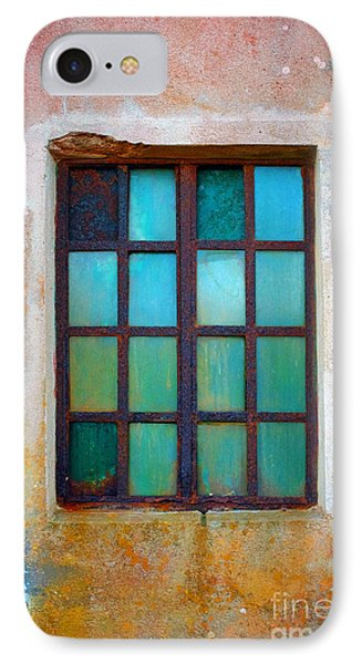 Rusty Green Window IPhone Case by Carlos Caetano