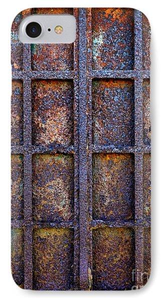 Rusty Iron Window IPhone Case by Carlos Caetano