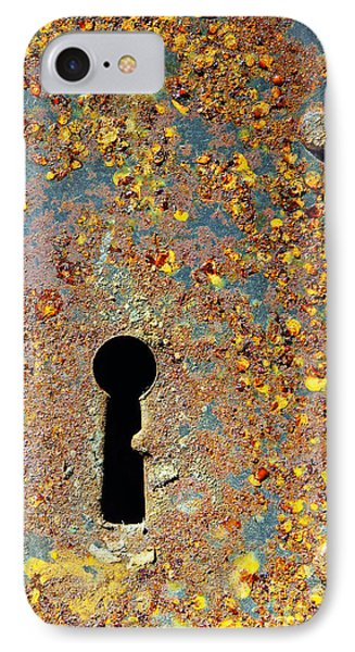 Rusty Key-hole IPhone Case by Carlos Caetano