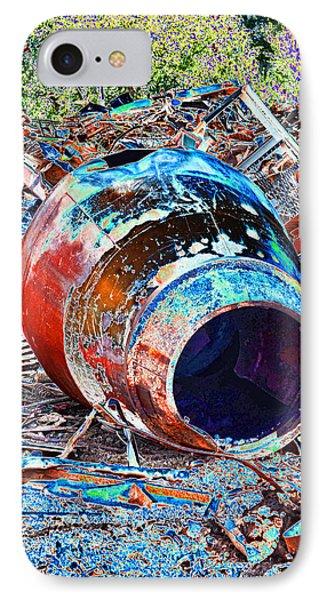 Rusty Metal Stuff II IPhone Case by Debbie Portwood