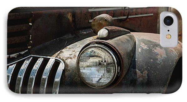 IPhone Case featuring the photograph Rusty Old Headlight  by Kim Hojnacki