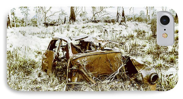 Rusty Old Holden Car Wreck  IPhone Case by Jorgo Photography - Wall Art Gallery