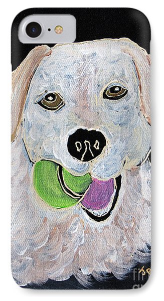 IPhone Case featuring the painting Rusty On Canvas by Janice Rae Pariza
