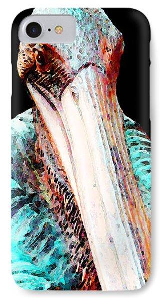 Rusty - Pelican Art Painting By Sharon Cummings IPhone 7 Case by Sharon Cummings