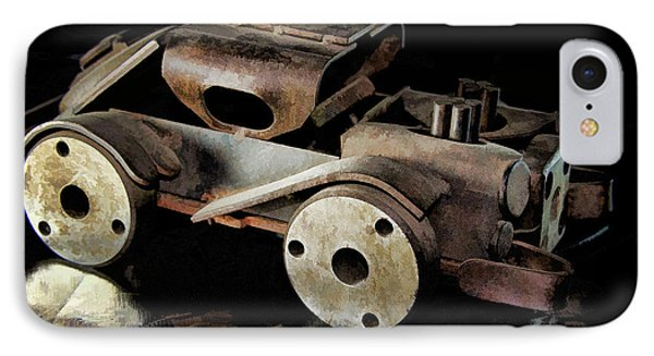 IPhone Case featuring the photograph Rusty Rat Rod Toy by Wilma Birdwell