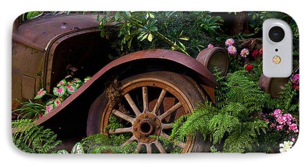 Rusty Truck In The Garden Phone Case by Garry Gay