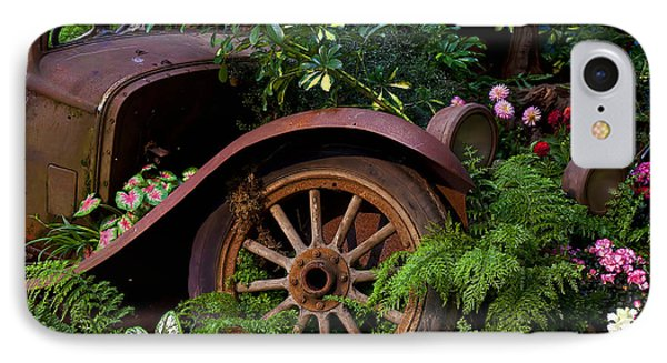 Rusty Truck In The Garden IPhone Case by Garry Gay