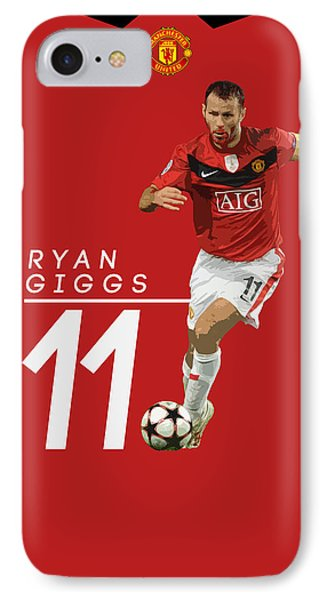 Wayne Rooney iPhone 7 Case - Ryan Giggs by Semih Yurdabak