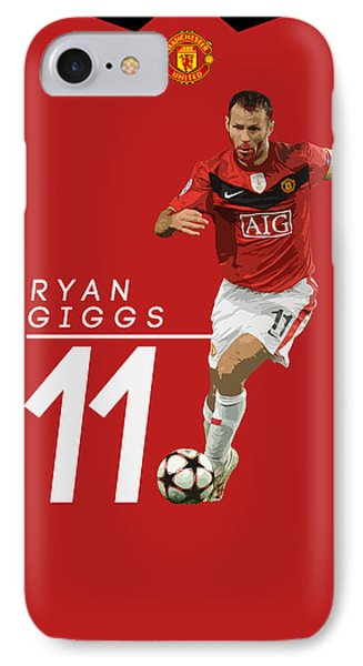 Ryan Giggs IPhone 7 Case by Semih Yurdabak