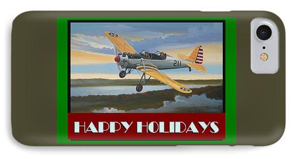 IPhone Case featuring the digital art Ryan Pt-22 Happy Holidays by Stuart Swartz