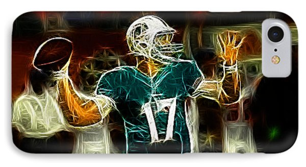 Ryan Tannehill - Miami Dolphin Quarterback Phone Case by Paul Ward