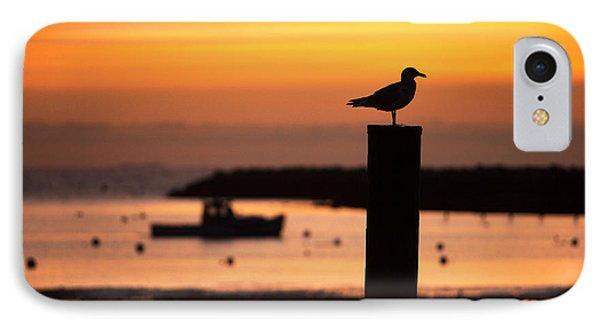 Rye Harbor Sunrise IPhone Case by Eric Gendron